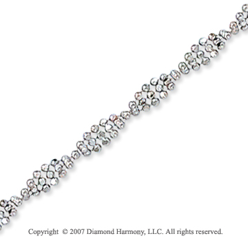 14k White Gold Classic Style Wide 2.90mm Bead Chain