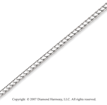14k White Gold Elegant Style Medium 1.40mm Franco Chain