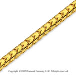 14k Yellow Gold Elegant Extra Wide 3.30mm Franco Chain