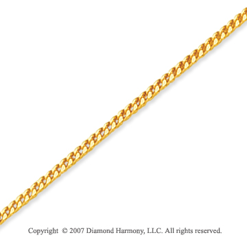14k Yellow Gold Elegant Style Thin 0.90mm Franco Chain