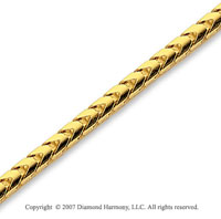 14k Yellow Gold Elegant Style Wide 2.50mm Franco Chain