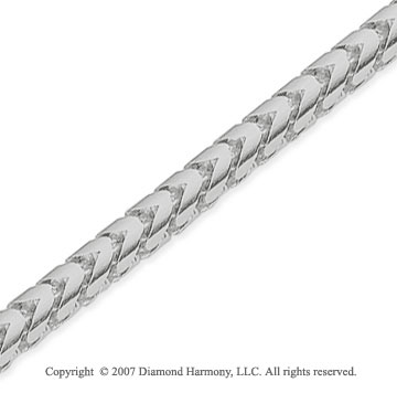 14k White Gold Elegant Extra Wide 3.30mm Franco Chain