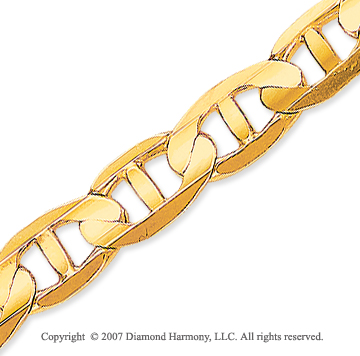 14k Yellow Gold Elegant Style Wide 7.50mm Mariner Link