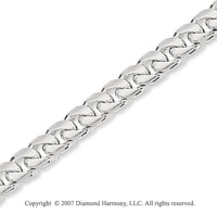 14k White Gold Elegant Style Medium 4.40mm Cuban Chain