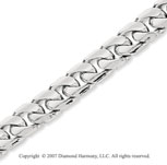 14k White Gold Elegant Style Medium 5.80mm Cuban Chain