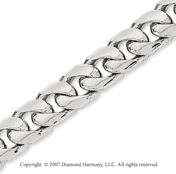 14k White Gold Elegant Style Wide 6.90mm Cuban Chain