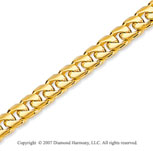 14k Yellow Gold Elegant Style Medium 4.40mm Cuban Chain