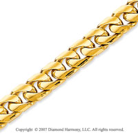 14k Yellow Gold Elegant Style Medium 5.80mm Cuban Chain