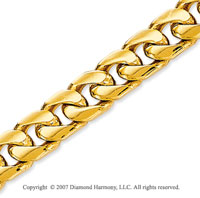14k Yellow Gold Elegant Style Wide 6.90mm Cuban Chain