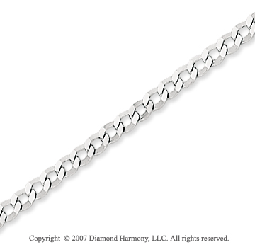 14k White Gold Classic Style Thin 2.70mm Concave Curb Chain