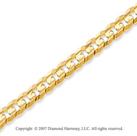 14k Yellow Goldold Classic Medium 4.00mm Concave Curb Chain