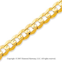 14k Yellow Gold Classic Wide 6.00mm Concave Curb Chain