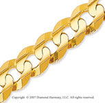 14k Yellow Gold Classic Wide 9.70mm Concave Curb Chain