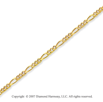 14k Yellow Goldold Elegant Thin 1.30mm Classic Figaro Chain