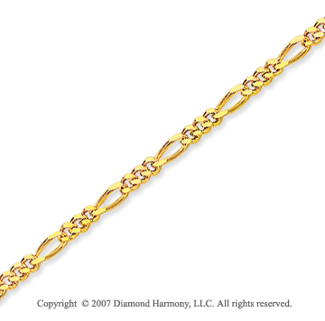 14k Yellow Goldold Elegant Thin 1.90mm Classic Figaro Chain
