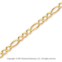 14k Yellow Goldold Elegant Thin 2.60mm Classic Figaro Chain