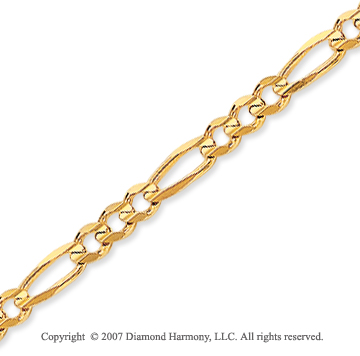 14k Yellow Goldold Elegant Thin 3.00mm Classic Figaro Chain