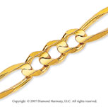 14k Yellow Goldold Elegant Medium 7.00mm Classic Figaro Chain