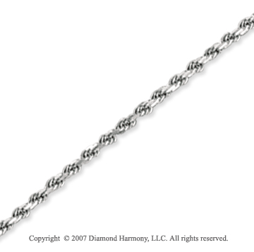14k White Gold Elegant Style Thin 2.00mm Rope Chain