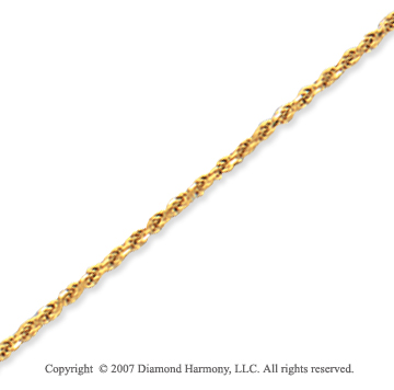 14k Yellow Gold Elegant Style Thin 1.25mm Rope Chain
