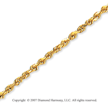 14k Yellow Gold Elegant Style Thin 2.00mm Rope Chain