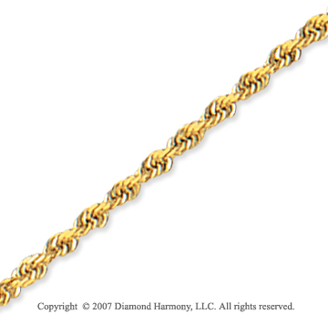 14k Yellow Gold Elegant Style Thin 2.25mm Rope Chain
