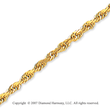 14k Yellow Gold Elegant Style Thin 2.50mm Rope Chain