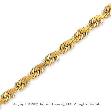 14k Yellow Gold Elegant Style Thin 2.75mm Rope Chain
