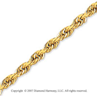 14k Yellow Gold Elegant Style Thin 3.00mm Rope Chain