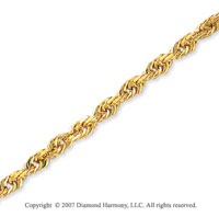 14k Yellow Gold Elegant Style Medium 4.00mm Rope Chain