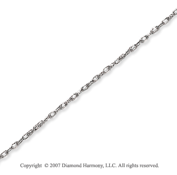 14k White Gold Elegant Extra Thin 0.80mm Rope Chain