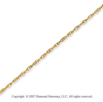 14k Yellow Gold Elegant Extra Thin 0.80mm Rope Chain