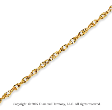 14k Yellow Gold Elegant Style Thin 1.20mm Rope Chain
