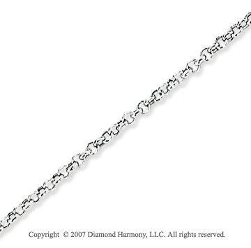 14k White Gold Classic Style Thin 1.85mm Rolo Chain
