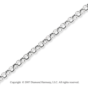 14k White Gold Classic Style Medium 2.3mm Rolo Chain