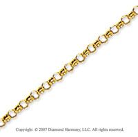 14k Yellow Gold Classic Style Medium 2.3mm Rolo Chain
