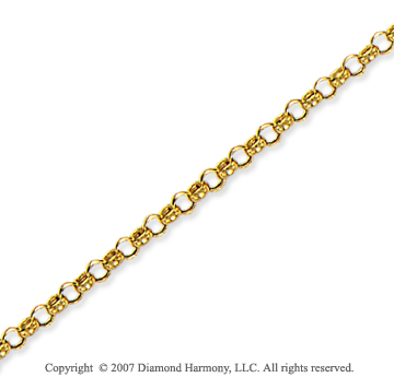 14k Yellow Gold Classic Style Medium 3.2mm Rolo Chain