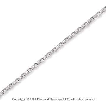 14k White Gold Classic Style Thin 1.00mm Rolo Chain