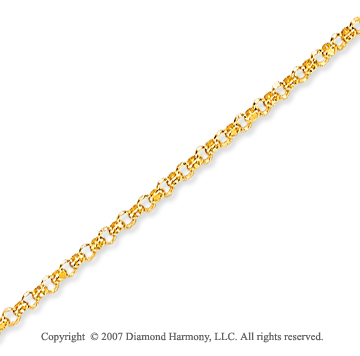 14k Yellow Gold Classic Style Thin 1.50mm Rolo Chain