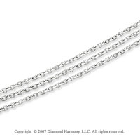 14k White Gold Classic 5.00mm Multi Strand Chain Necklace