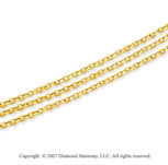 14k Yellow Goldold Classic 5.00mm Multi Strand Chain Necklace