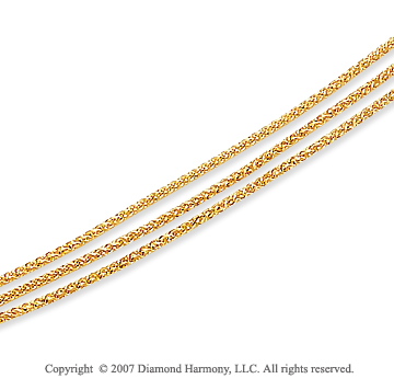 14k Yellow Goldold Classic 4.00mm Multi Strand Chain Necklace