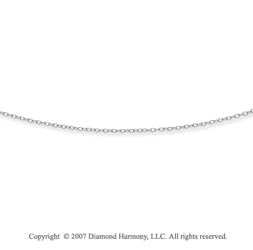 14k White Gold Fashionable Thin 2.00mm Cable Chain