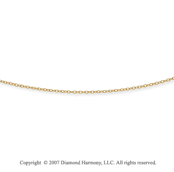 14k Yellow Gold Fashionable Thin 2.00mm Cable Chain