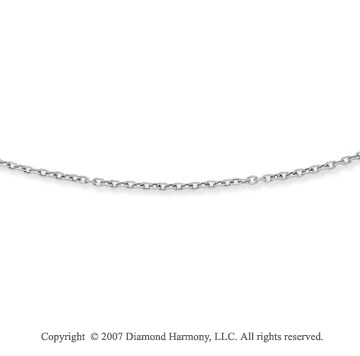 14k White Gold Fashionable Medium 3.00mm Cable Chain