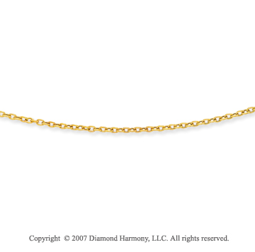 14k Yellow Gold Fashionable Medium 3.00mm Cable Chain