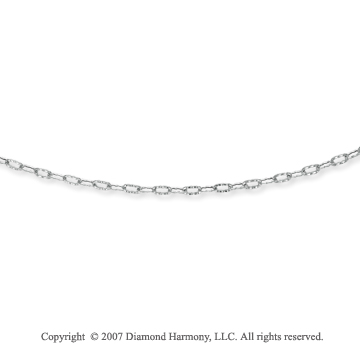 14k White Gold Fashionable Medium 4.00mm Cable Chain