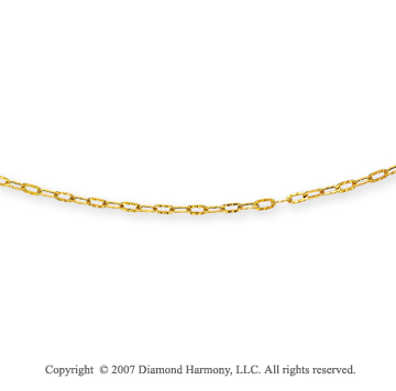 14k Yellow Gold Fashionable Medium 4.00mm Cable Chain