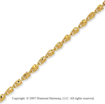 14k Yellow Goldold Fashionable Style Thin 2.70mm Fancy Chain