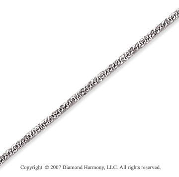 14k White Gold Fashionable Very Thin 1.6mm Fancy Chain